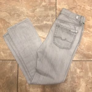 7FAM | 'The Straight' Gray Jeans | Sz 8
